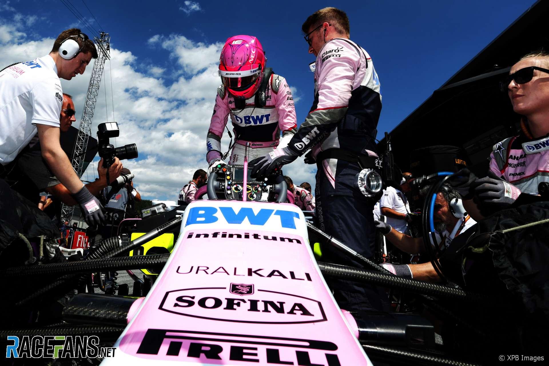 Esteban Ocon, Force India, Red Bull Ring, 2018