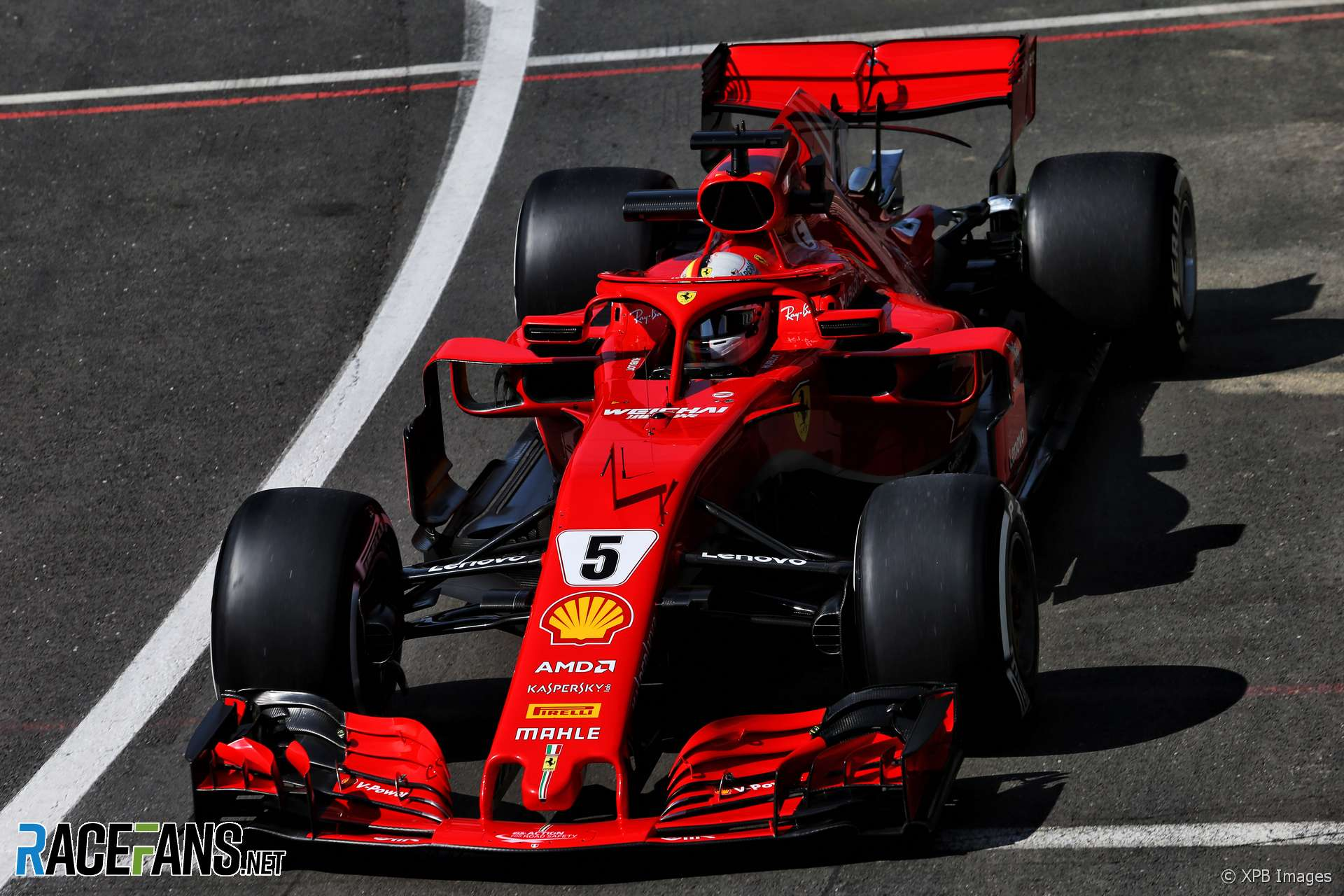 Sebastian Vettel, Ferrari, Silverstone, 2018