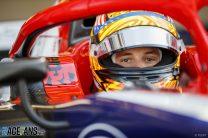 Banned F2 racer Ferrucci tried to run Trump slogan on his car
