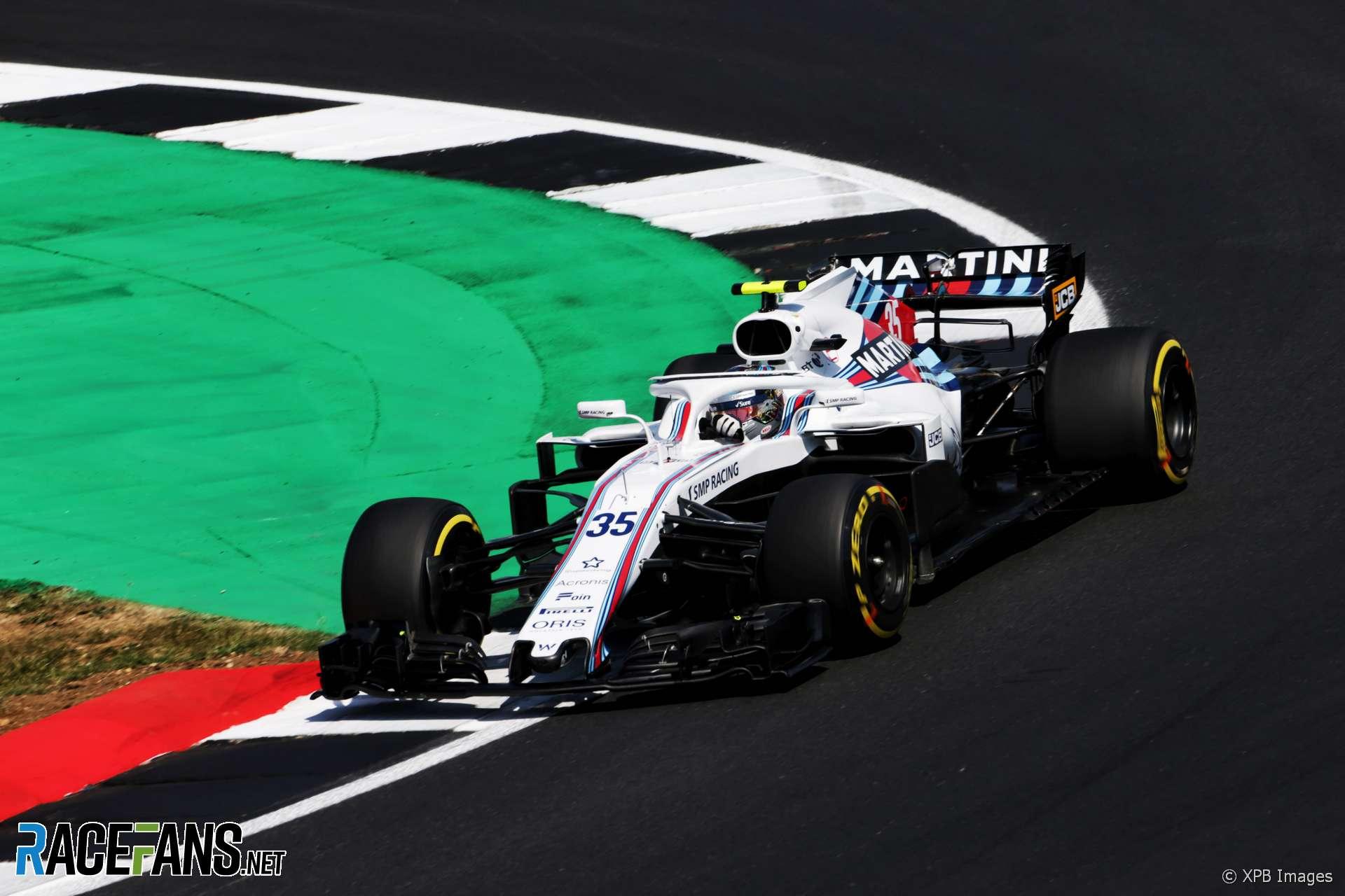 Sergey Sirotkin, Williams, Silverstone, 2018