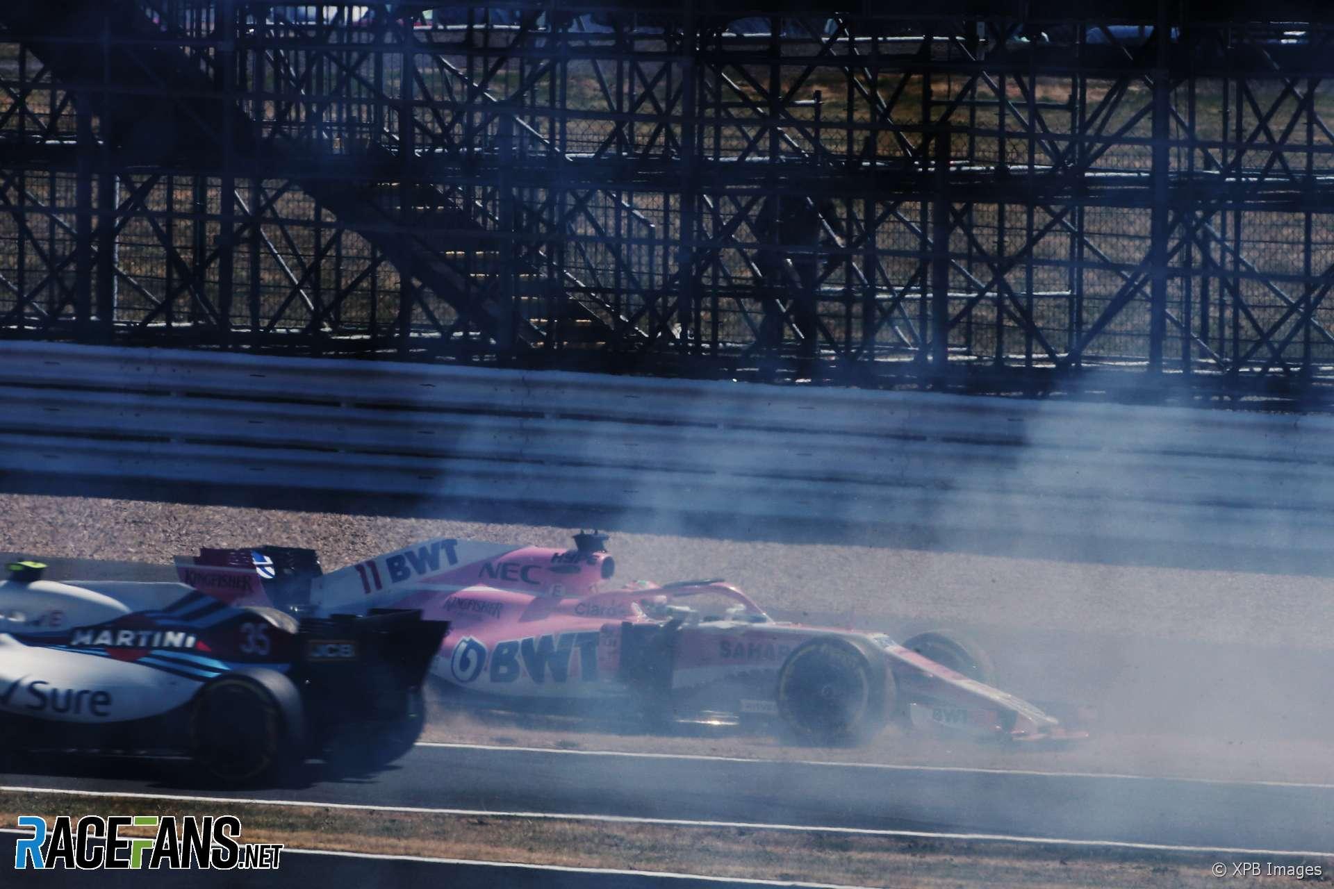 Sergio Perez, Force India, Silverstone, 2018
