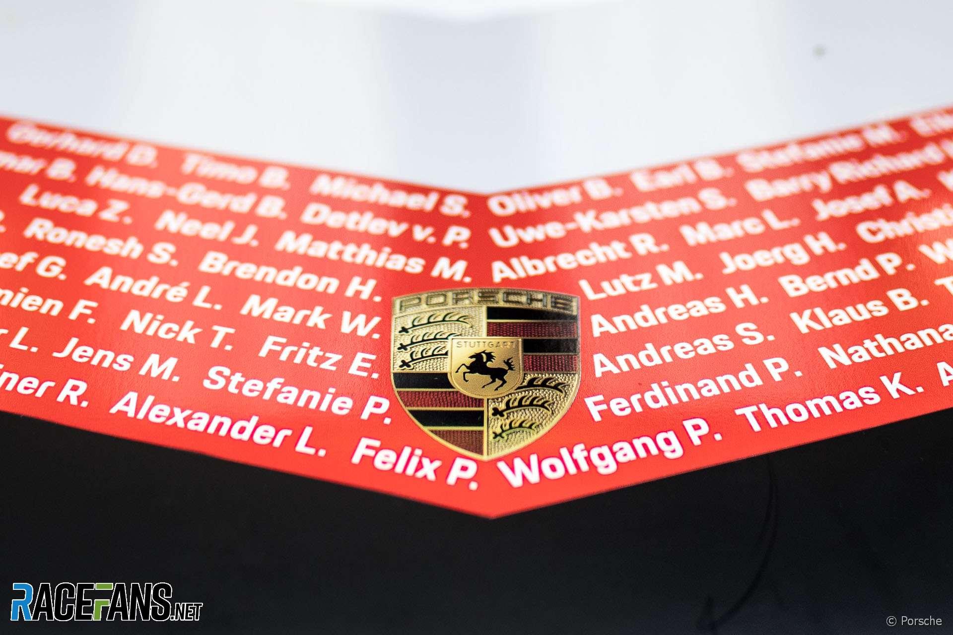 Porsche logo, 2018