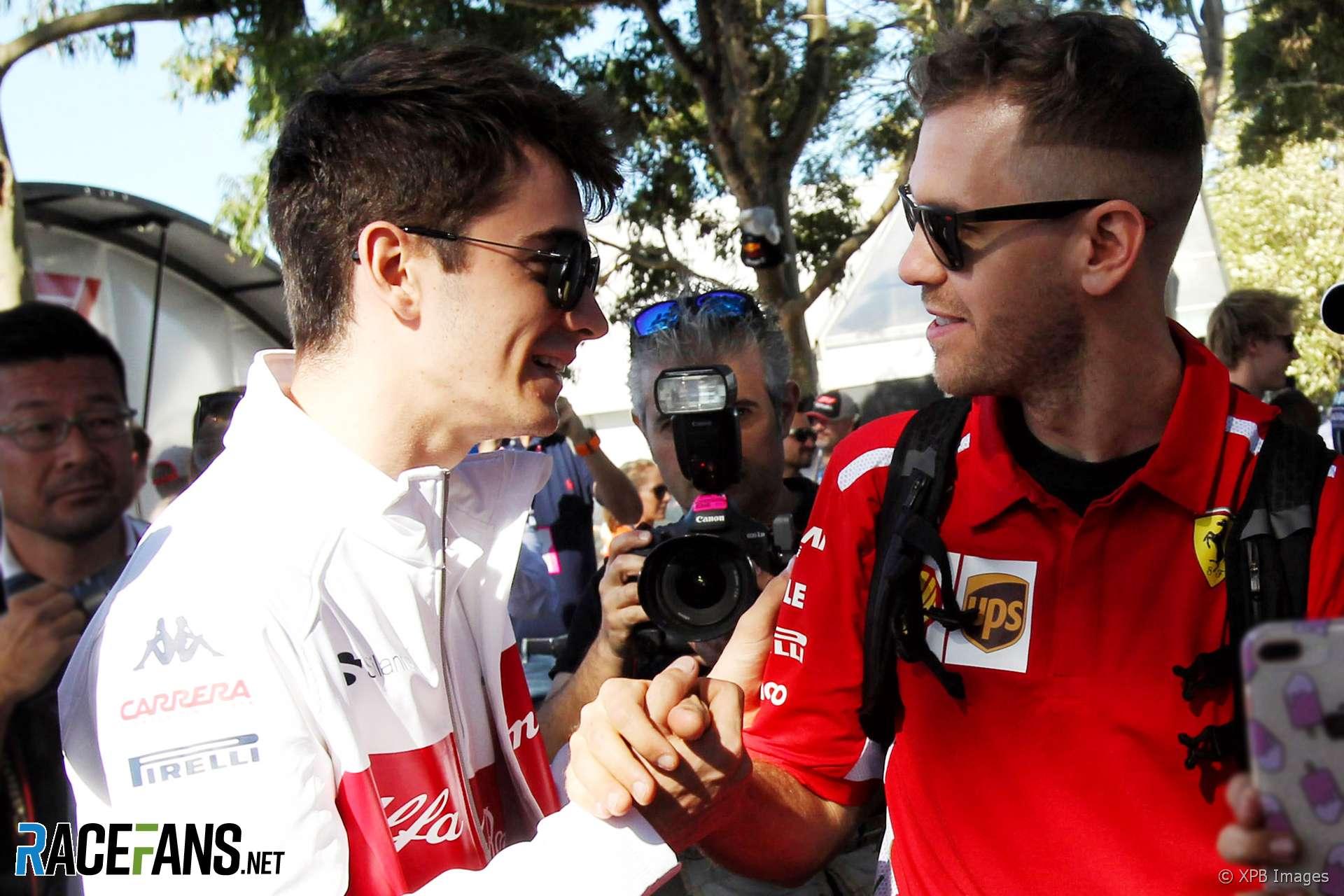 Charles Leclerc, Sebastian Vettel, 2018