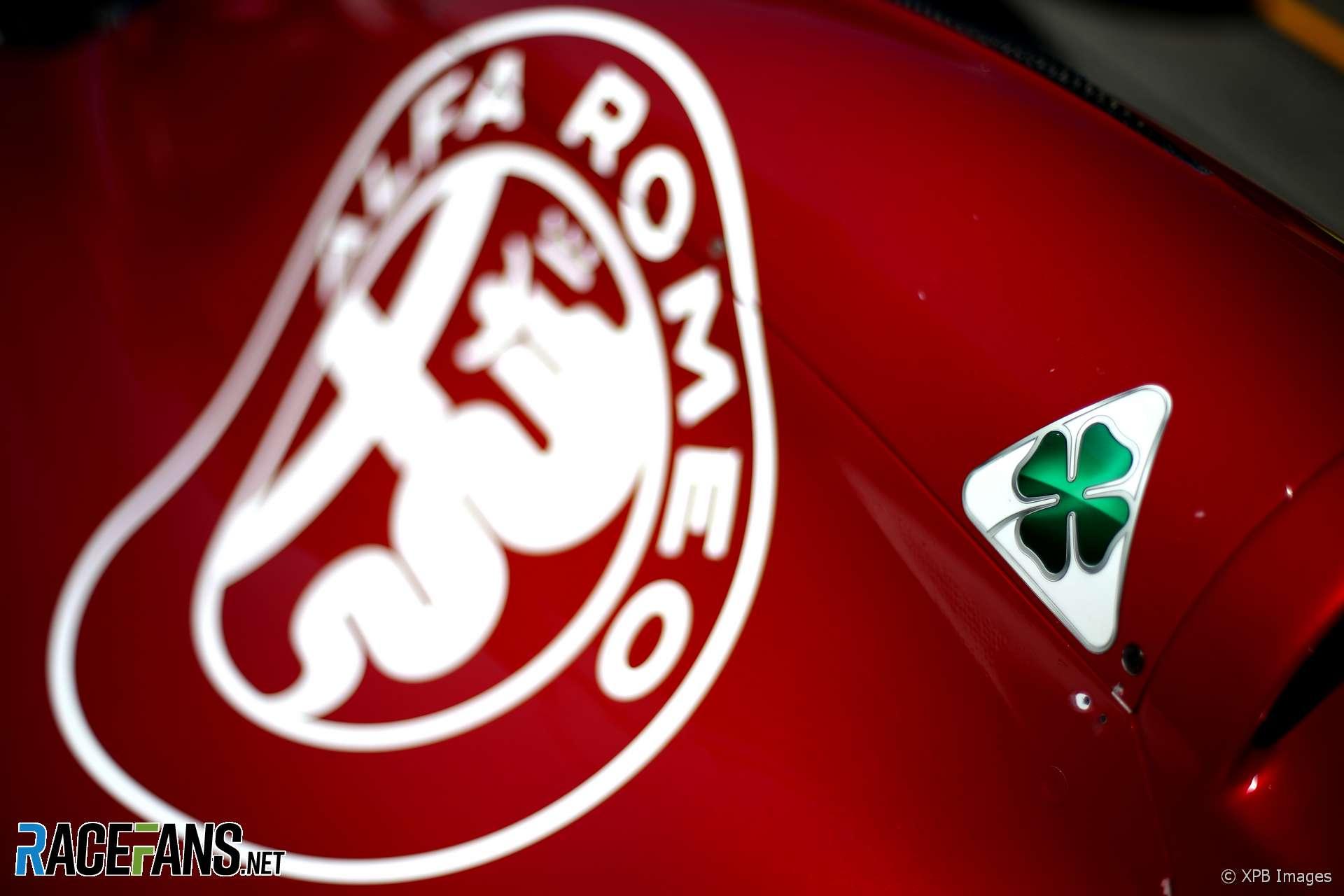 Alfa Romeo badge, Sauber, Hockenheimring, 2018