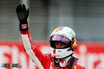 Vettel on pole at home as problem halts Hamilton in Q1