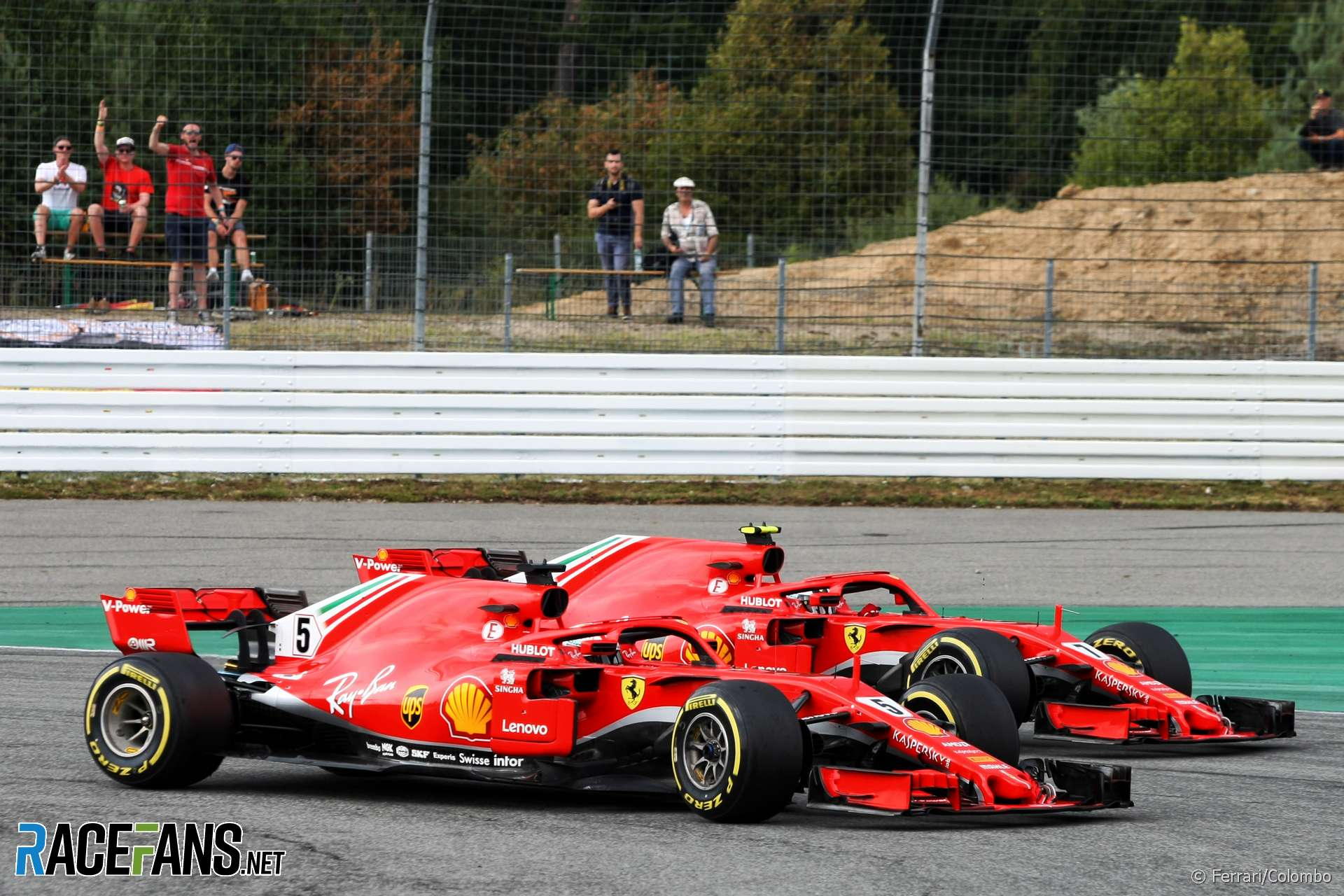 Sebastian Vettel, Kimi Raikkonen, Ferrari, Hockenheimring, 2018