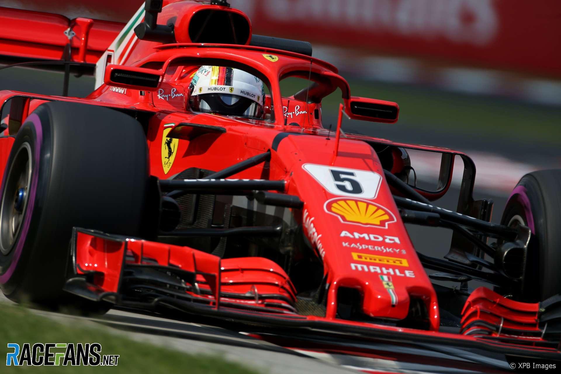 Sebastian Vettel, Ferrari, Hungaroring, 2018