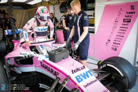 Sergio Perez, Force India, Hungaroring, 2018