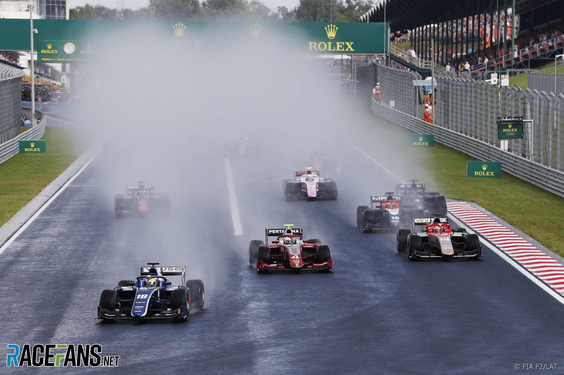 Start, Formula 2 feature race, Hungaroring, 2018