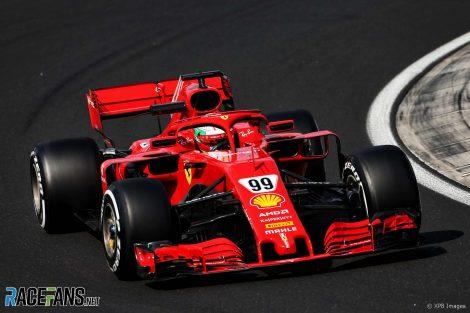 Antonio Giovinazzi, Ferrari, Hungaroring