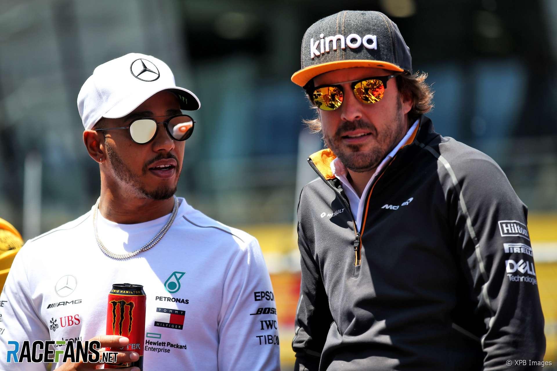 Fernando Alonso, Lewis Hamilton, Red Bull Ring, 2018