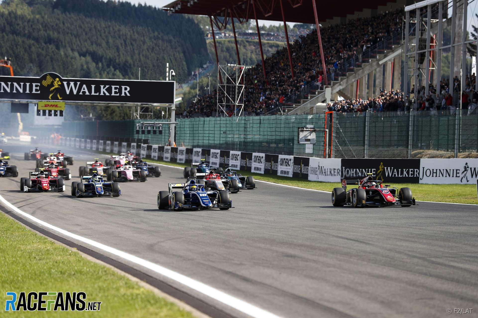 Start, F2 feature race, Spa, 2018
