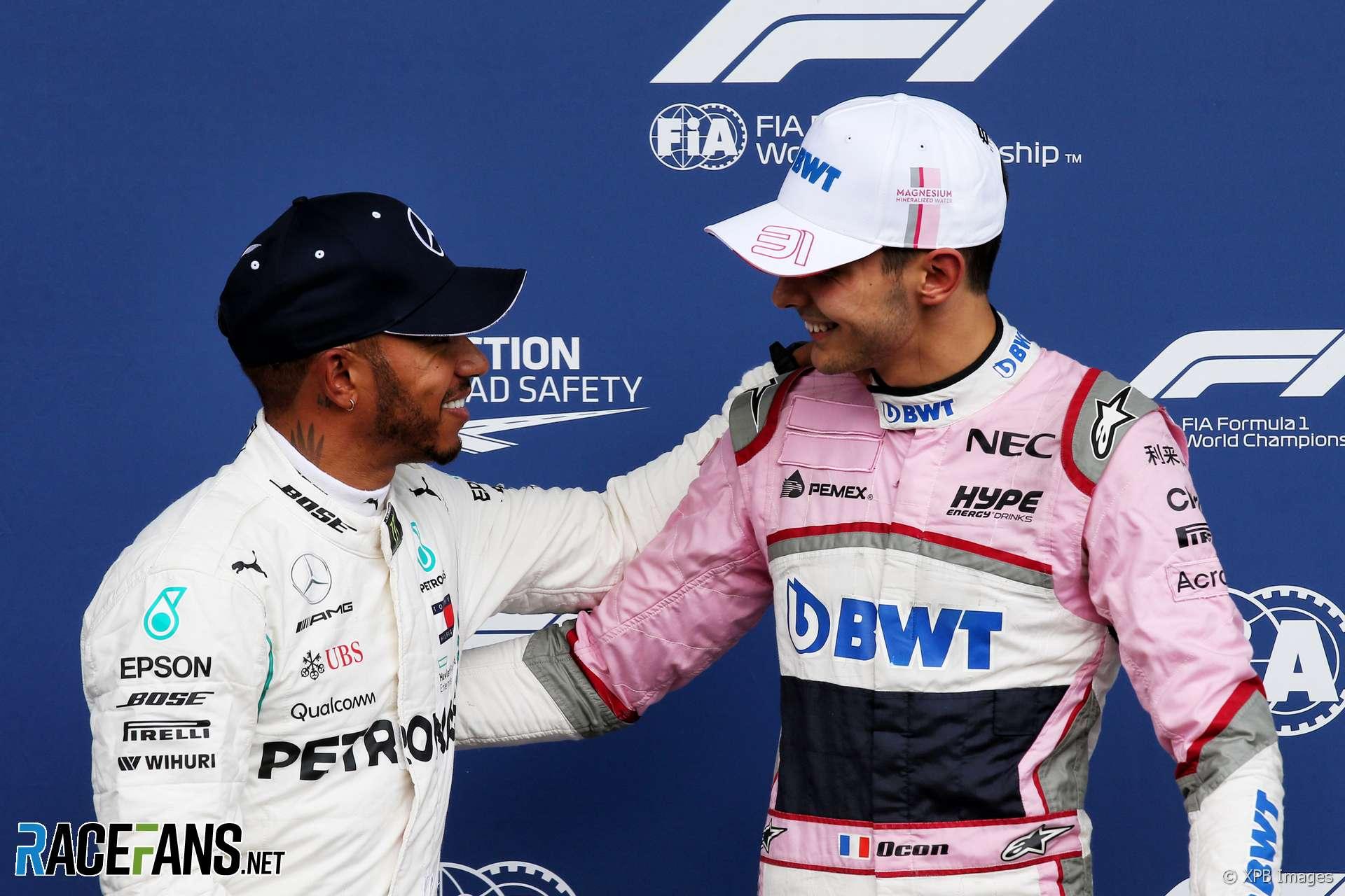 Lewis Hamilton, Esteban Ocon, Spa-Francorchamps, 2018