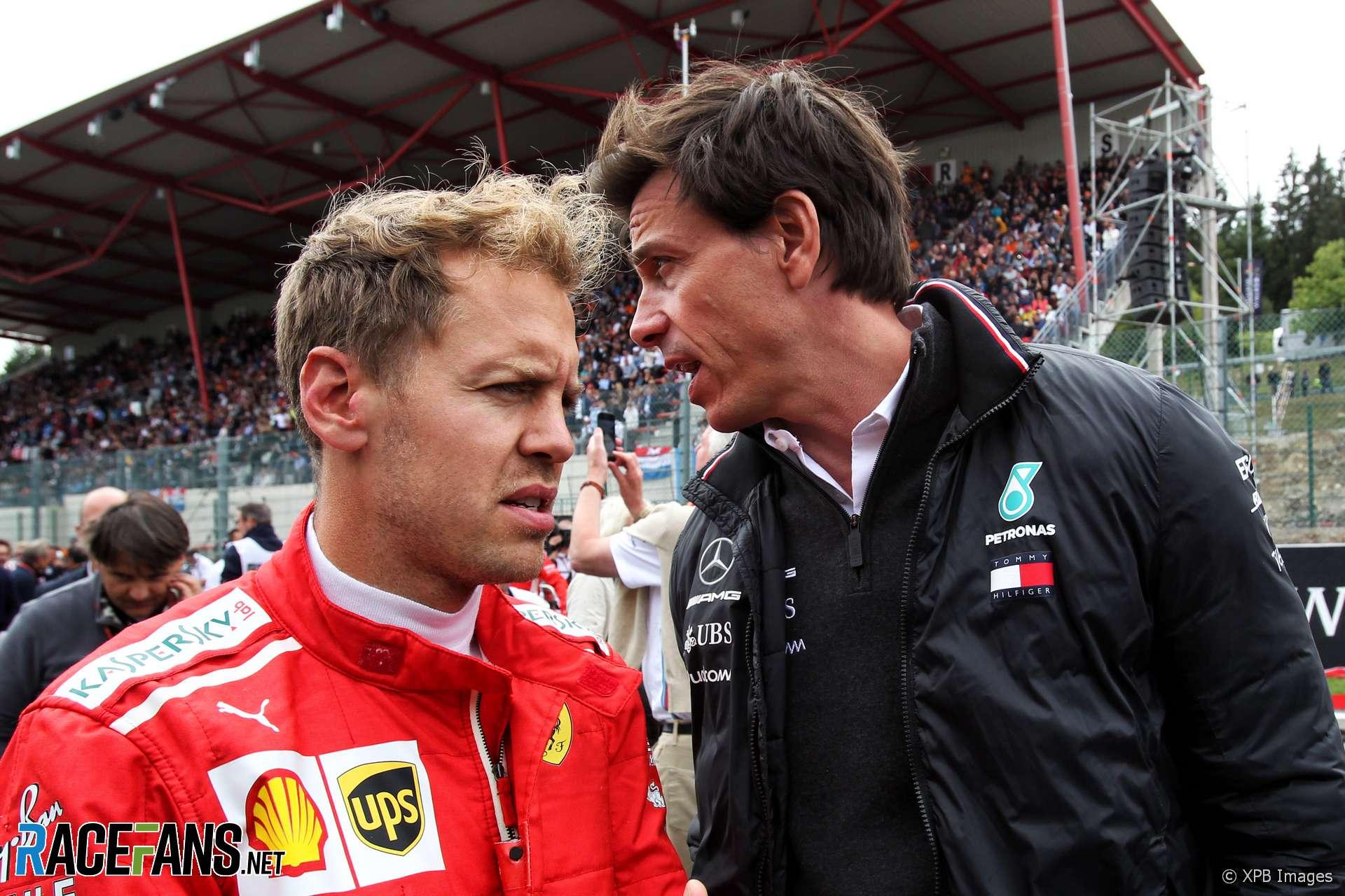 Sebastian Vettel, Toto Wolff, Spa-Francorchamps, 2018