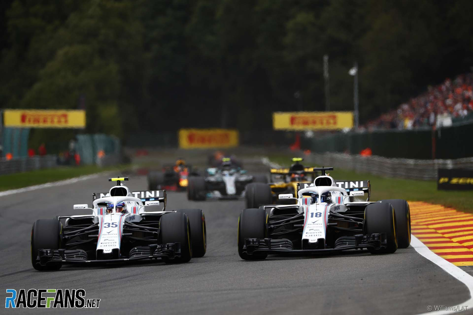 Sergey Sirotkin, Lance Stroll, Williams, Spa-Francorchamps, 2018