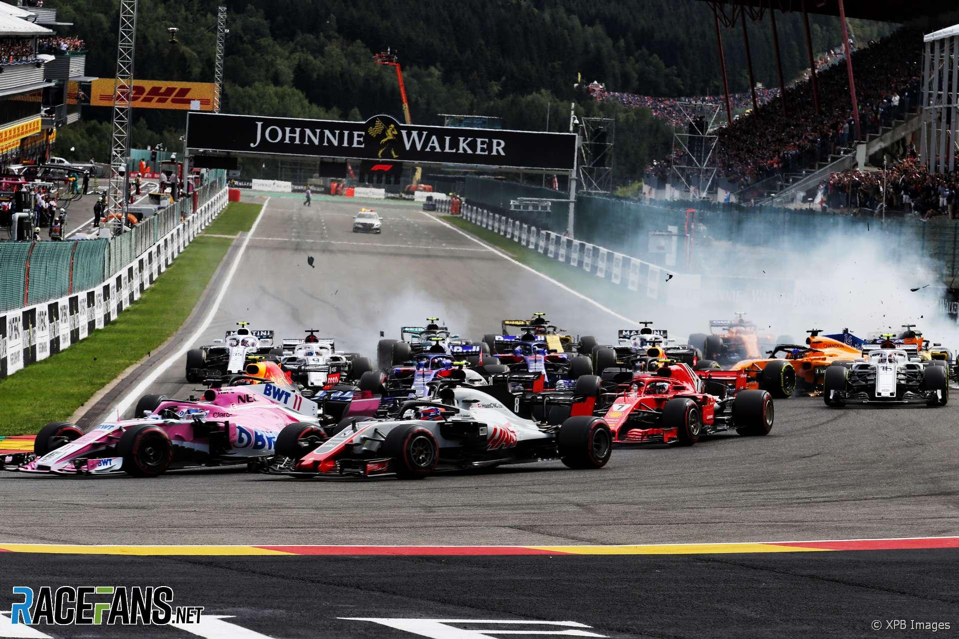 alonso points finger at hulkenberg for huge f1 start crash racefans. Black Bedroom Furniture Sets. Home Design Ideas