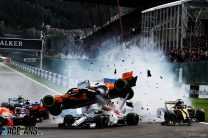 """Leclerc says his Halo """"probably helped"""" in Belgian GP crash"""