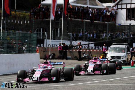 Sergio Perez, Force India, Spa-Francorchamps, 2018