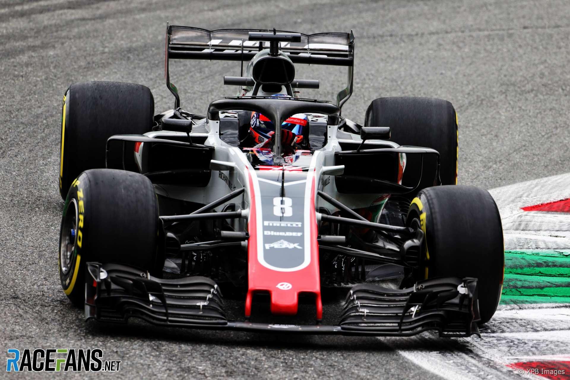 Romain Grosjean, Haas, Monza, 2018