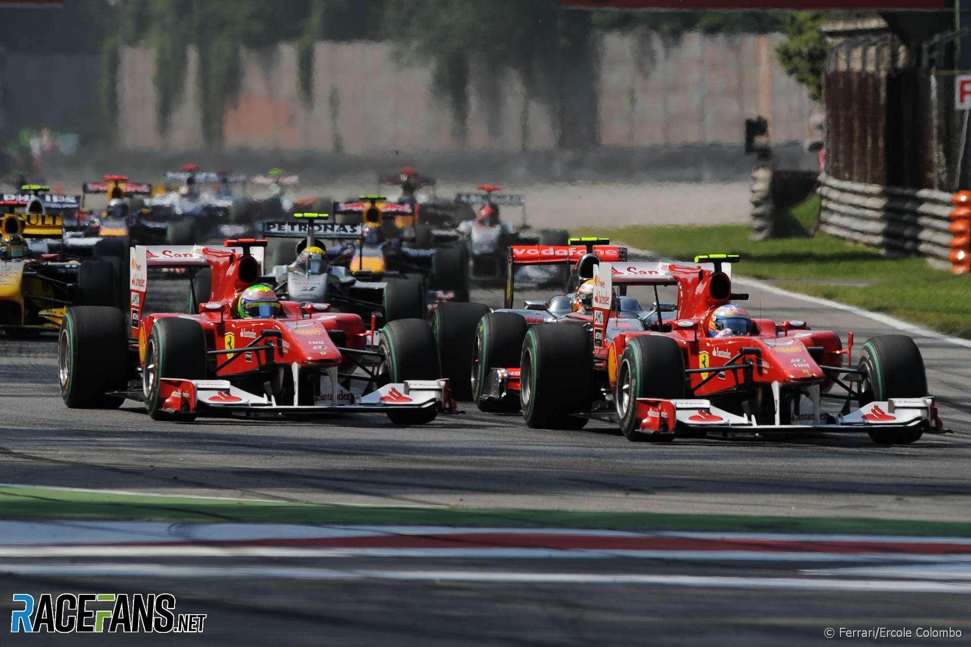 Fernando Alonso, Felipe Massa, Ferrari, Monza, 2010