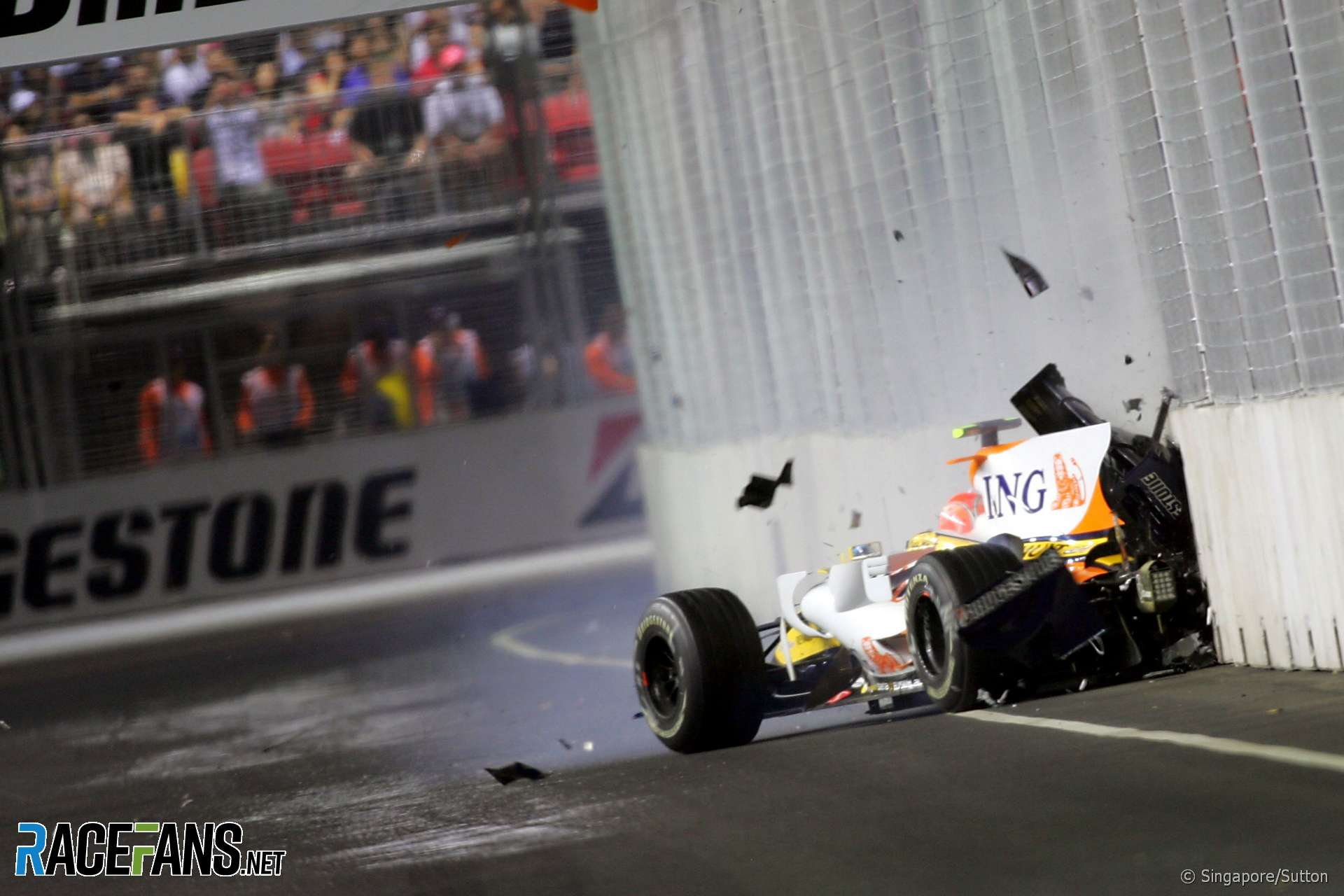 Nelson Piquet Jnr, Renault., Singapore, 2008