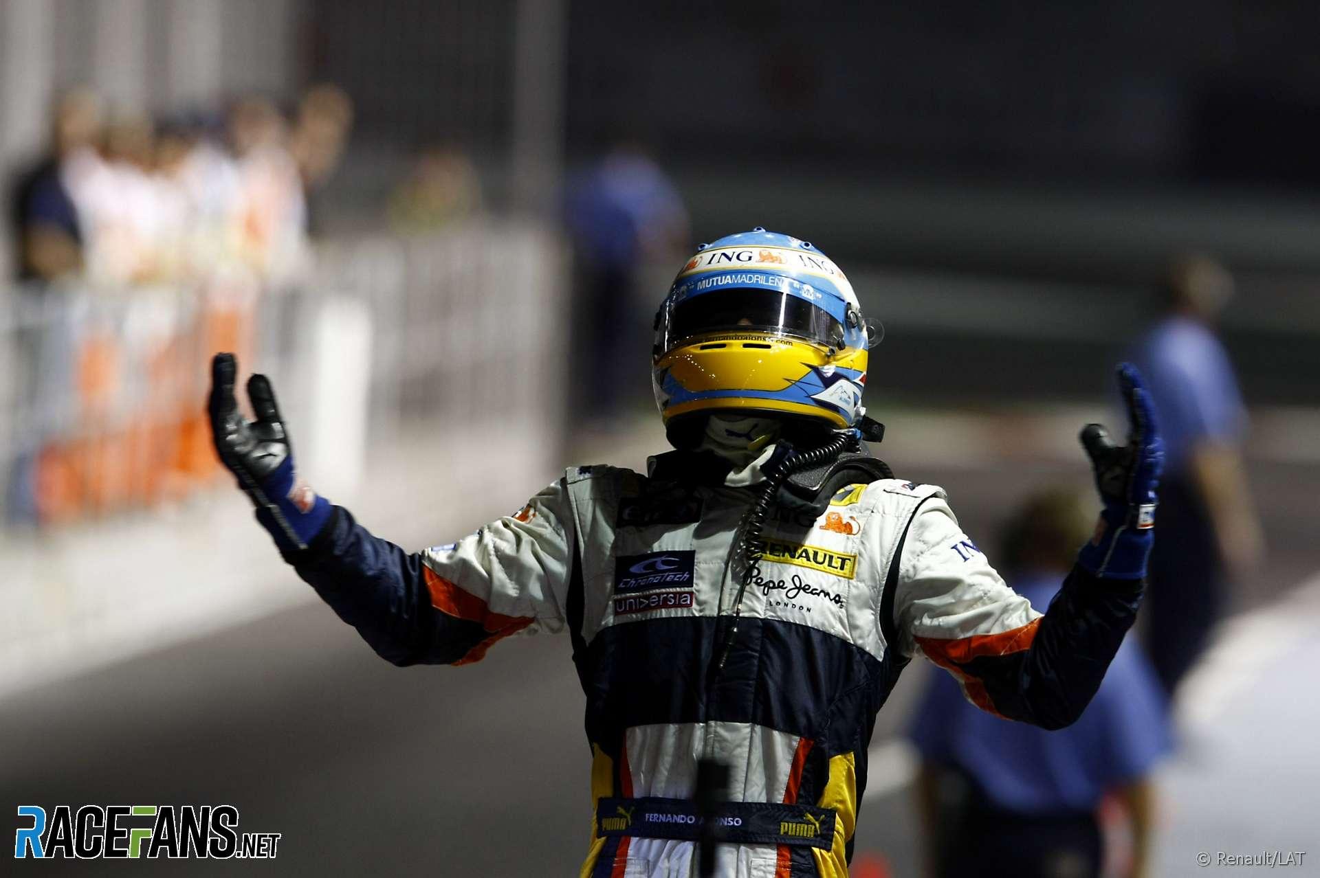 Fernando Alonso, Renault, Singapore, 2008