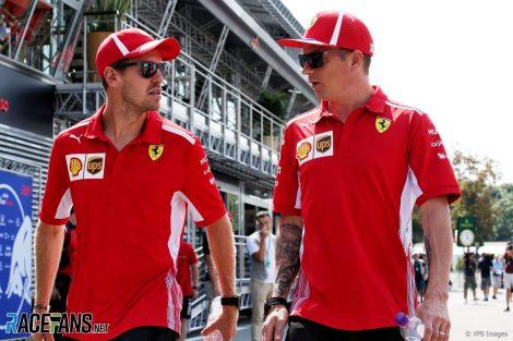 Sebastian Vettel, Kimi Raikkonen, Ferrari, Monza, 2018