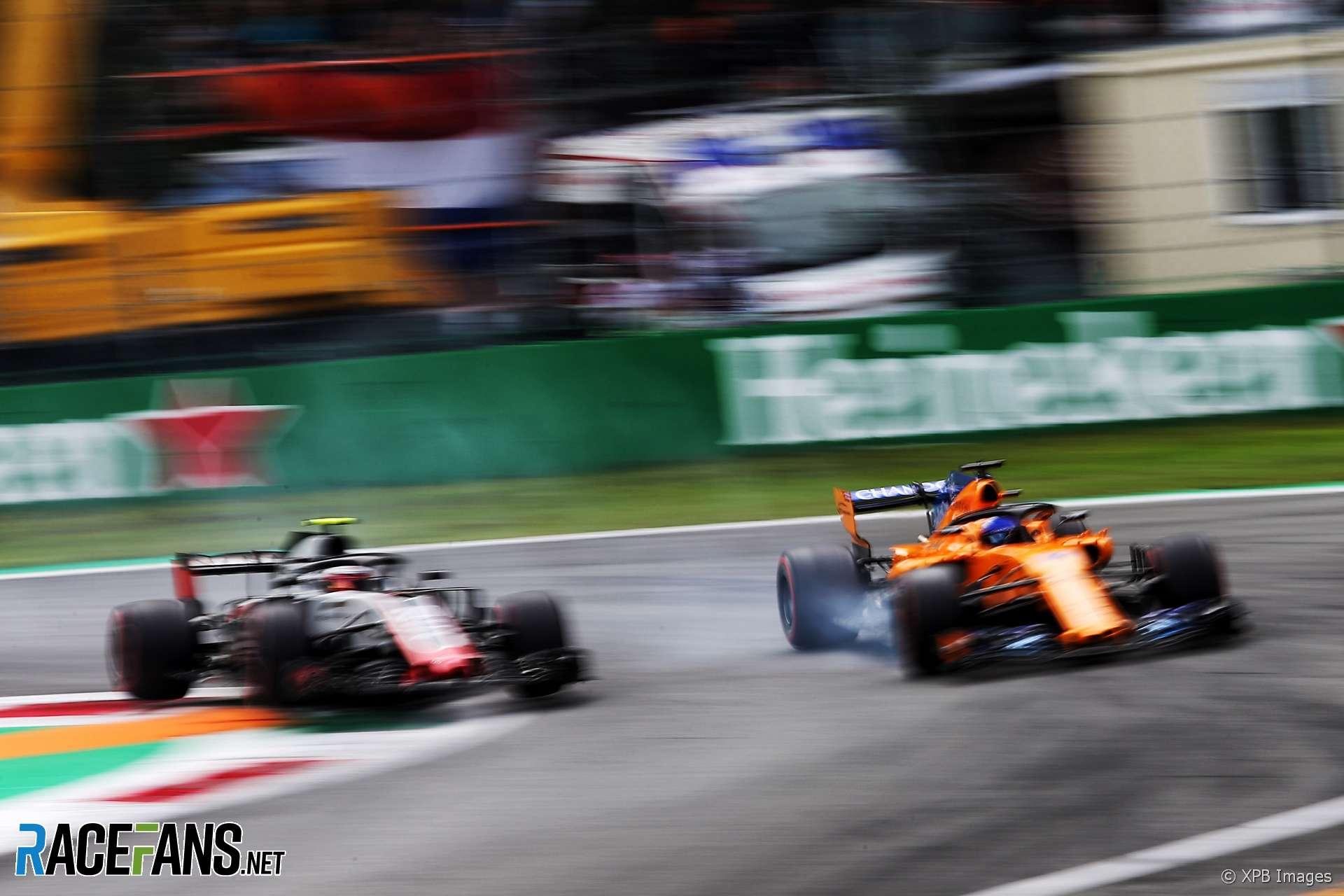 Kevin Magnussen, Fernando Alonso, Monza, 2018