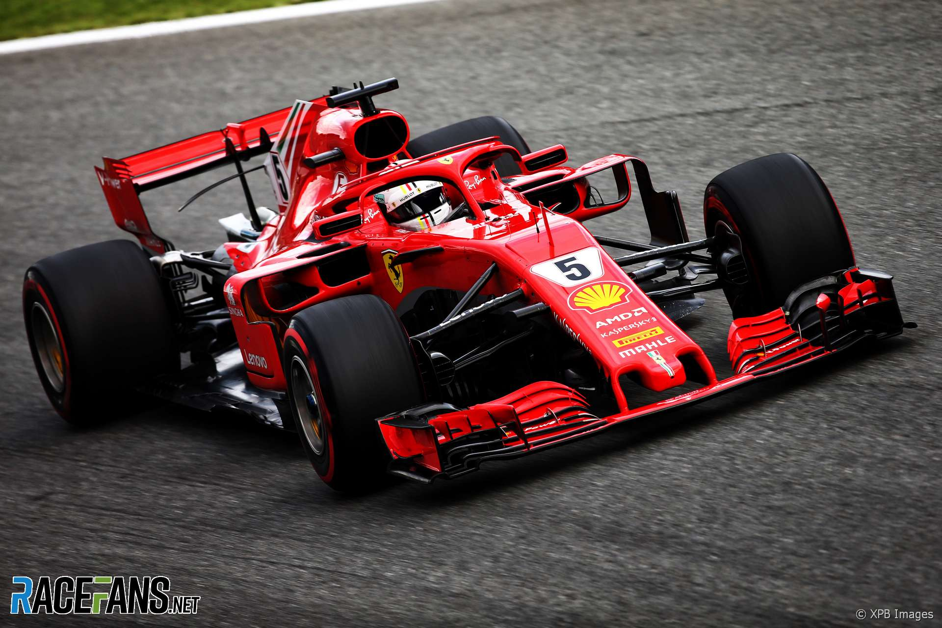 sebastian vettel ferrari monza 2018 racefans. Black Bedroom Furniture Sets. Home Design Ideas