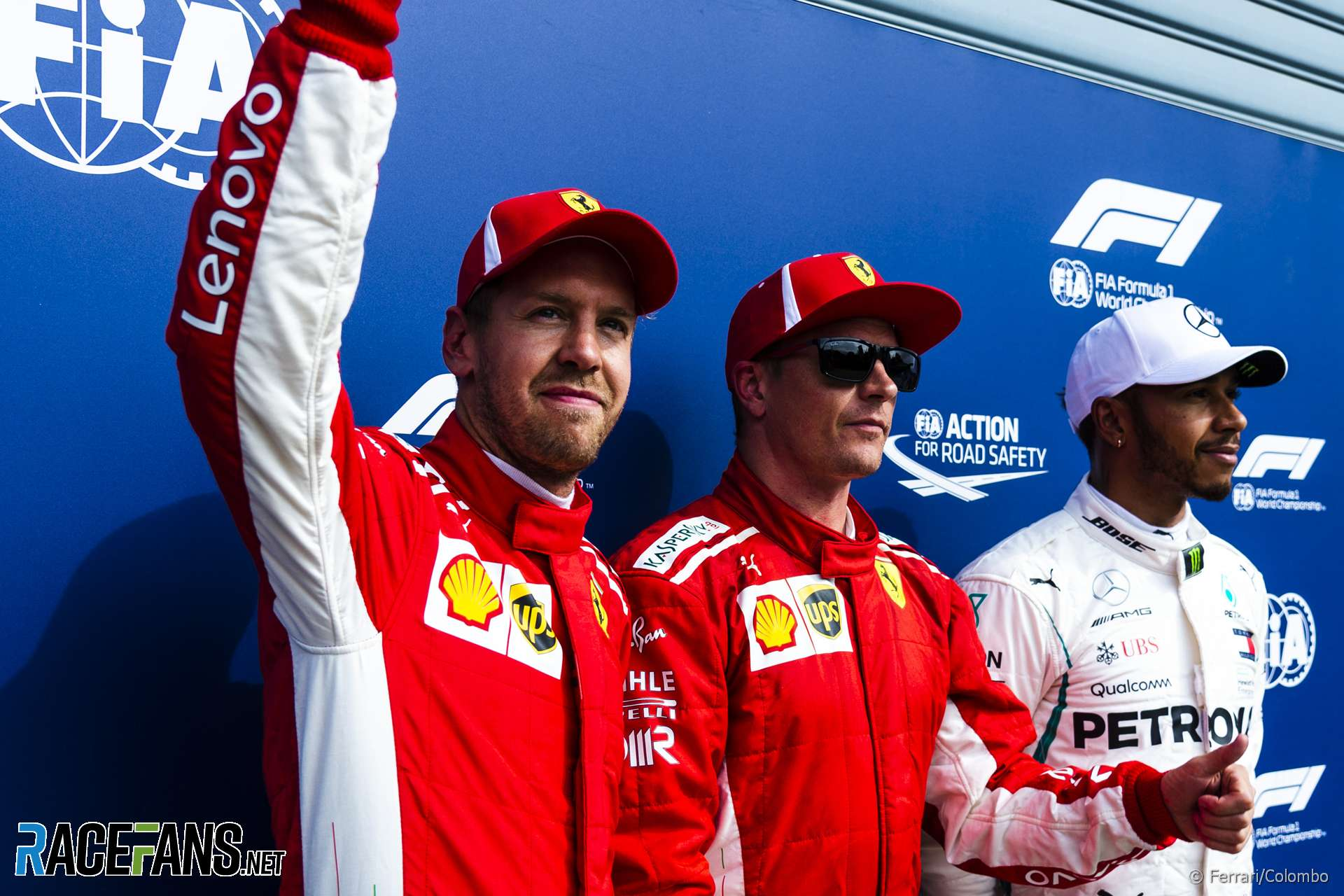 Sebastian Vettel, Kimi Raikkonen, Lewis Hamilton, Monza, 2018