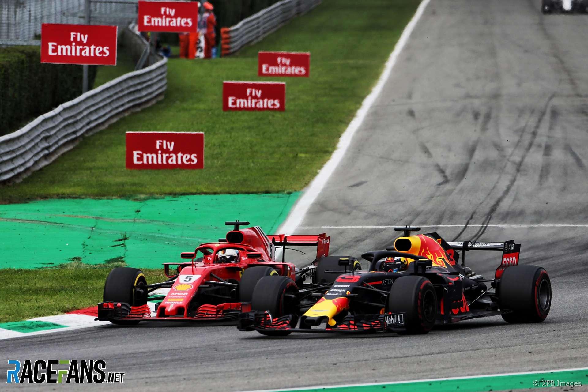 Sebastian Vettel, Daniel Ricciardo, Monza, 2018