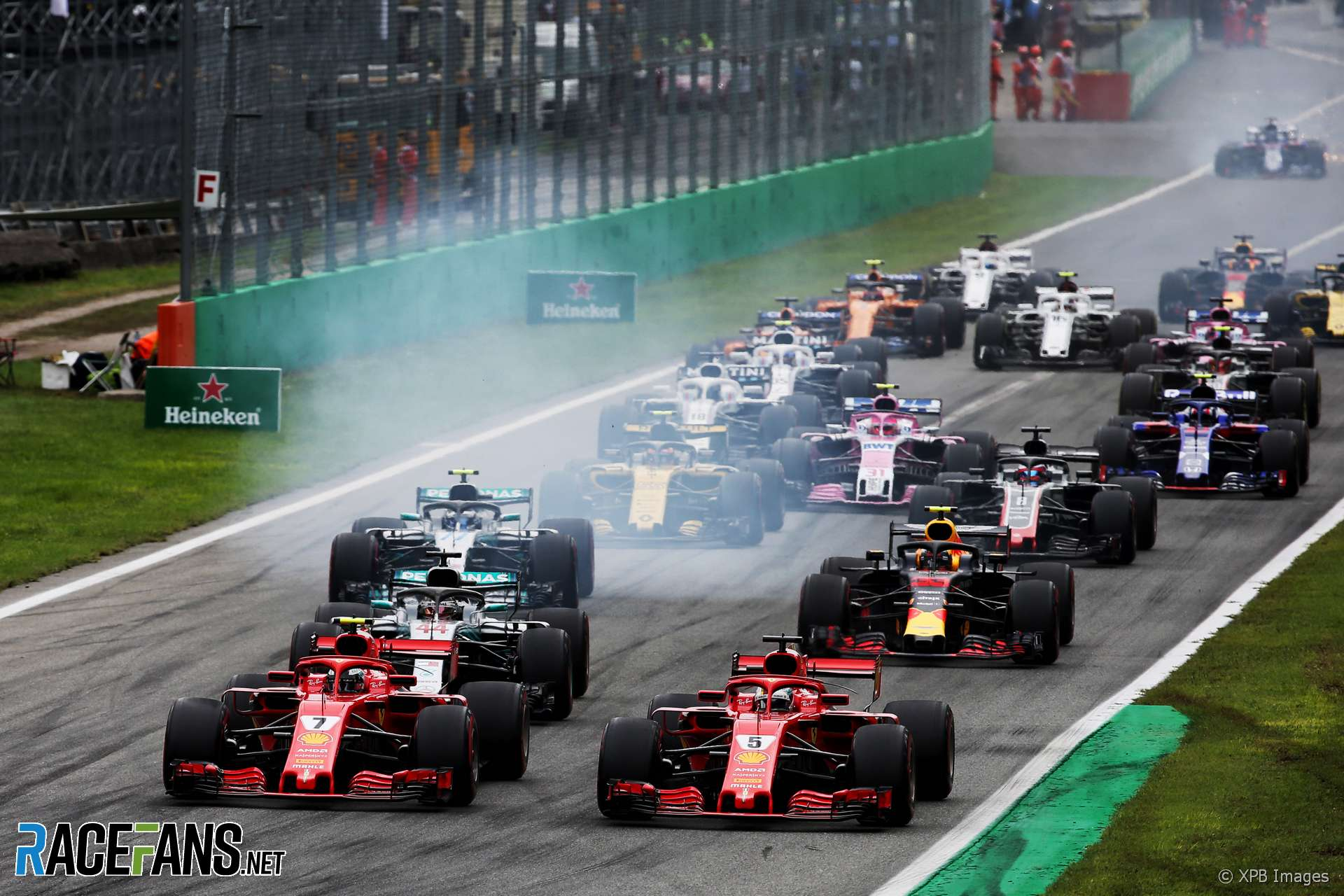 Start, Monza, 2018