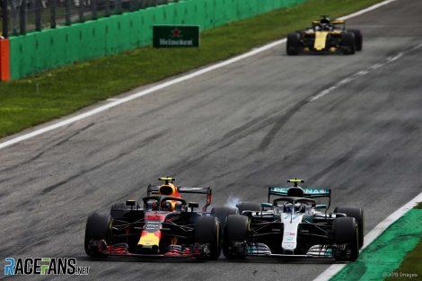 Max Verstappen, Valtteri Bottas, Monza, 2018
