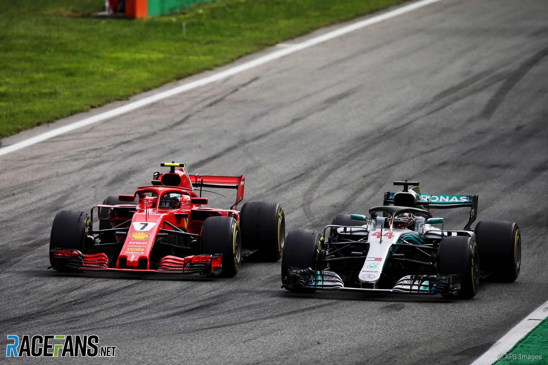 Lewis Hamilton, Kimi Raikkonen, Monza, 2018