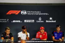Kevin Magnussen, Lewis Hamilton, Kimi Raikkonen, Pierre Gasly, Singapore, 2018