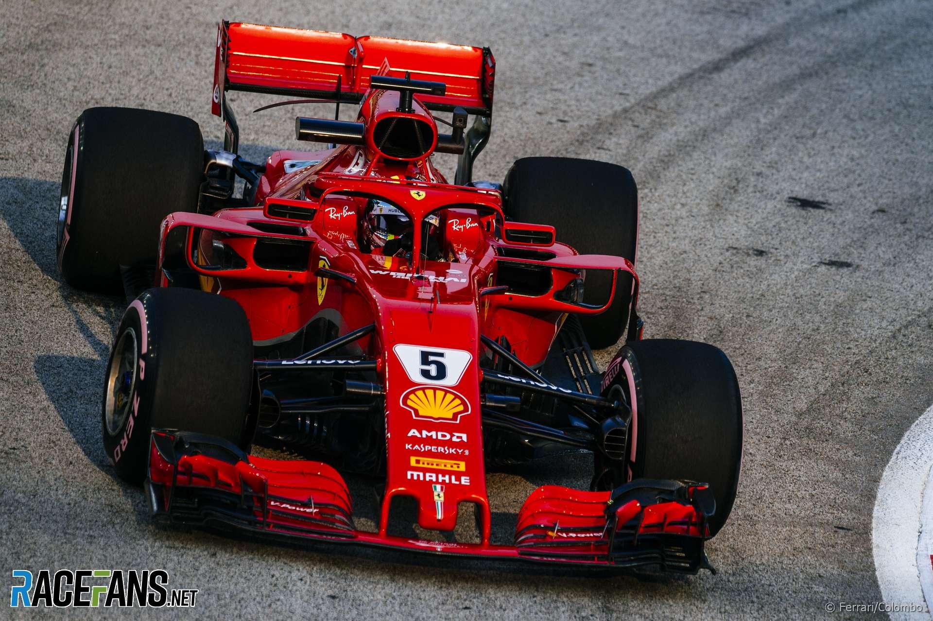 Vettel and Ferrari fastest in final Singapore practice ...