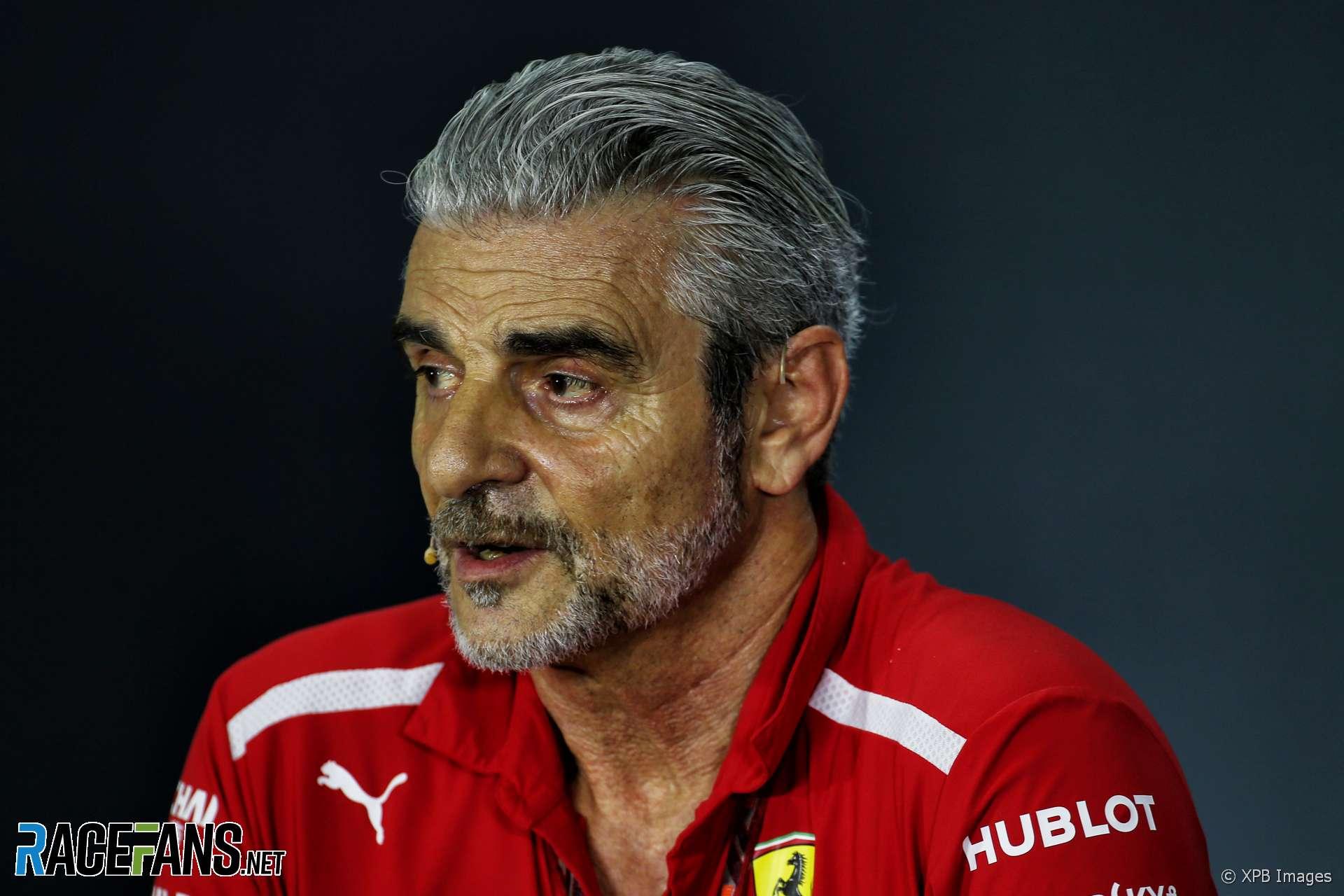 Maurizio Arrivabene, Ferrari, Singapore, 2018