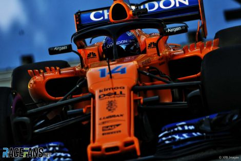 Fernando Alonso, McLaren, Singapore, 2018