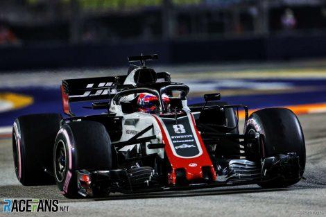 Romain Grosjean, Haas, Singapore, 2018