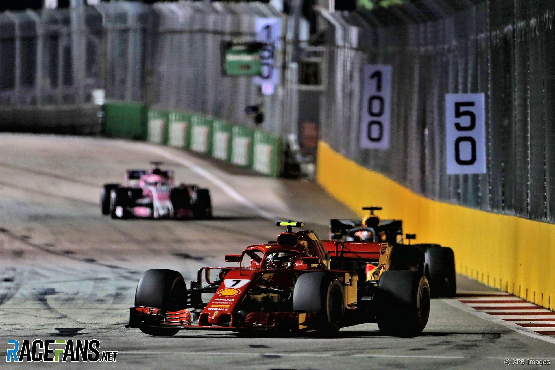Kimi Raikkonen, Ferrari, Singapore, 2018