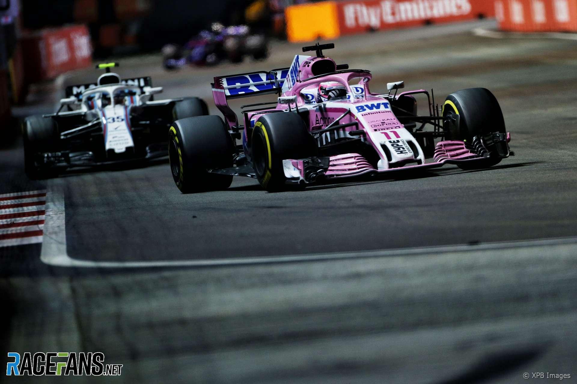Sergio Perez, Force India, Singapore, 2018