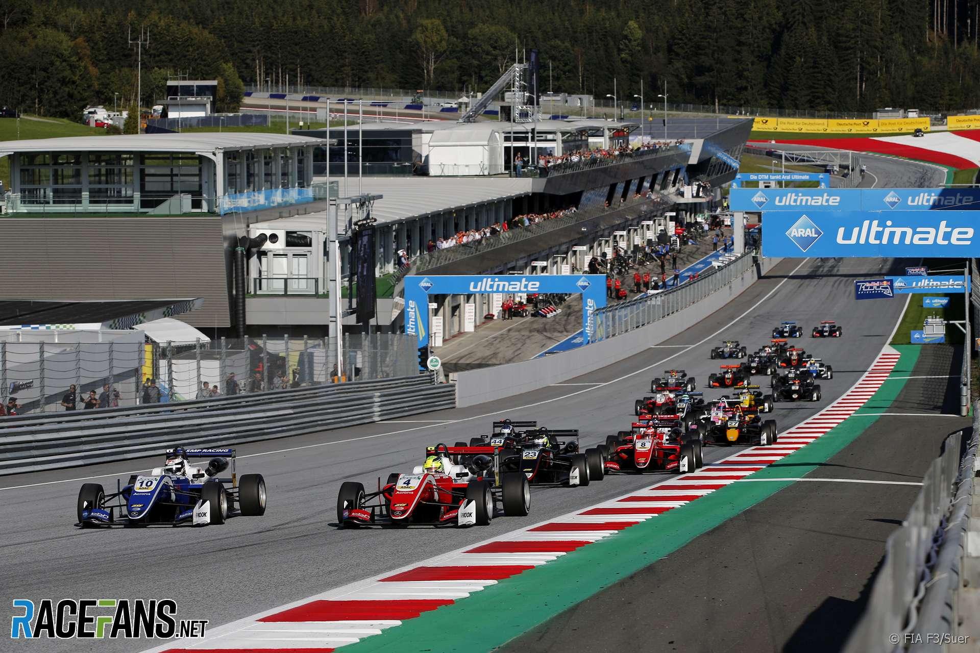 Start, Red Bull Ring, European Formula Three, 2018