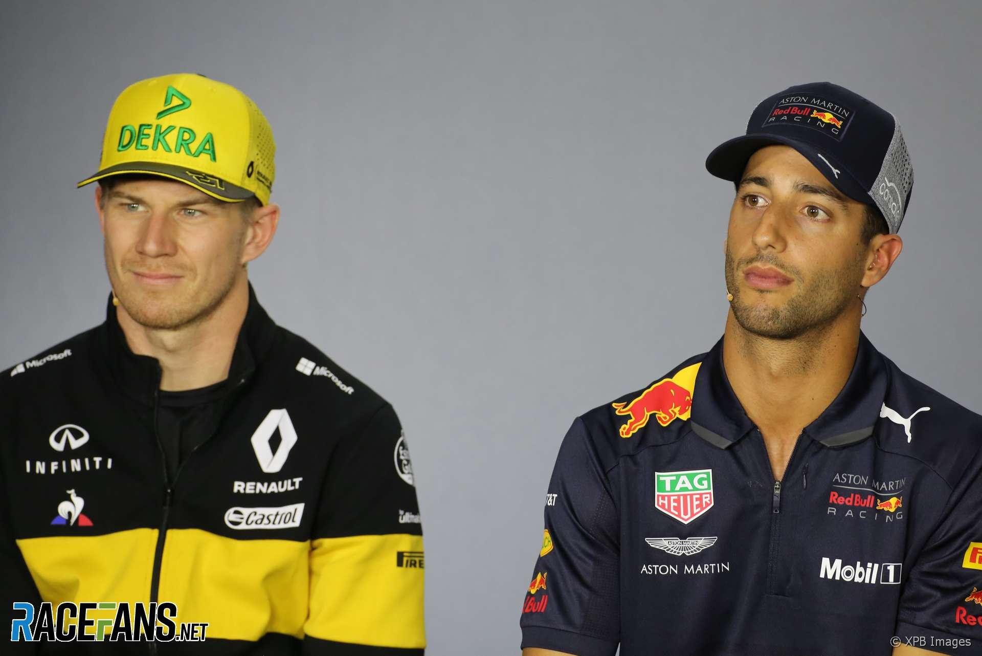 Nico Hulkenberg, Daniel Ricciardo, 2018