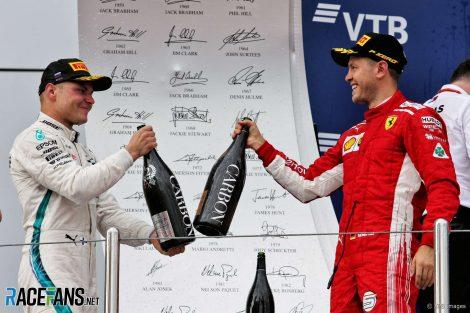 Valtteri Bottas, Sebastian Vettel, Sochi Autodrom, 2018