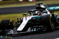 Hamilton completes practice sweep in rain-affected session