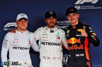 Hamilton on pole, Vettel ninth after rain in qualifying