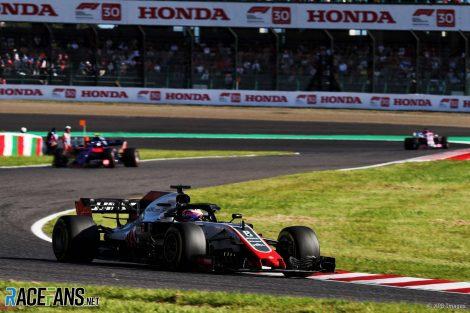 Romain Grosjean, Haas, Suzuka, 2018