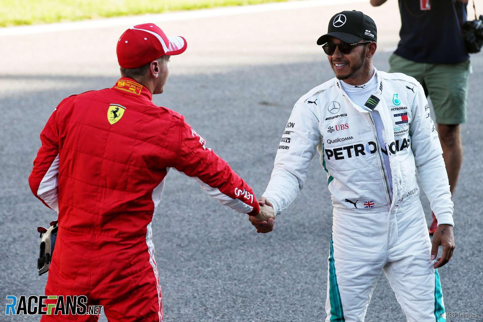 Sebastian Vettel, Lewis Hamilton, Sochi, 2018