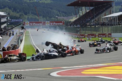 Romain Grosjean, Fernando Alonso, Start, 2012 Belgian Grand Prix
