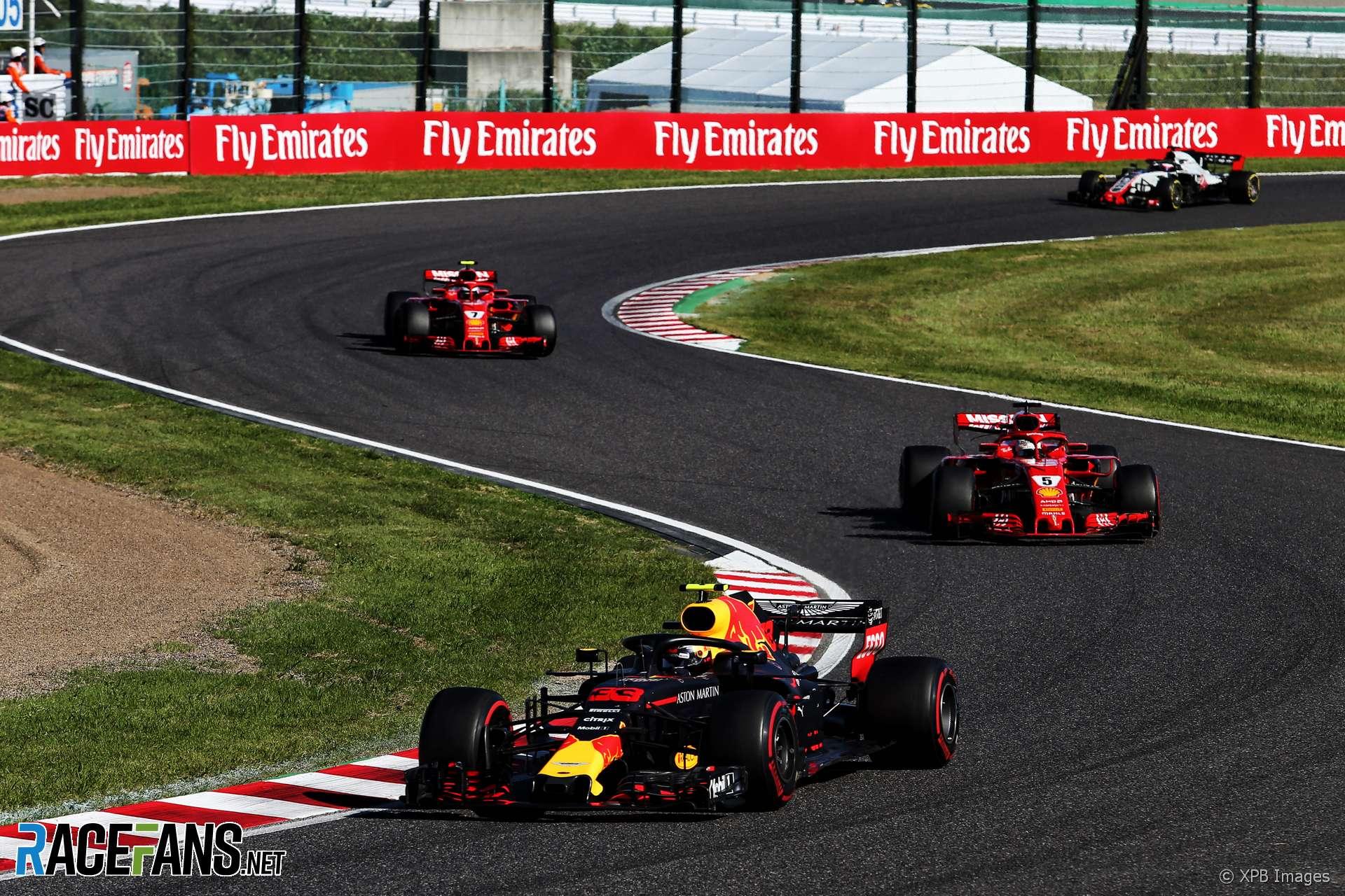 Max Verstappen, Sebastian Vettel, Suzuka, 2018